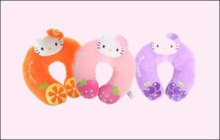 凯蒂猫kt卡通水果u型枕