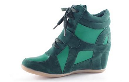 时尚潮流系带女鞋绿色