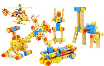 木玩世家 手动拼装积木