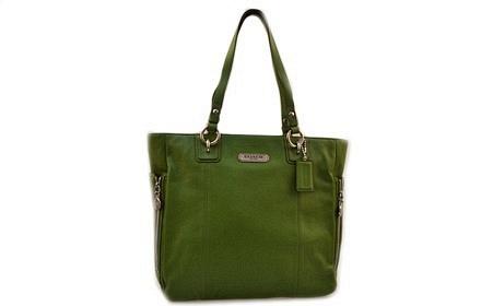 coach 女款绿色手提包包