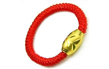 黄金转运珠戒指