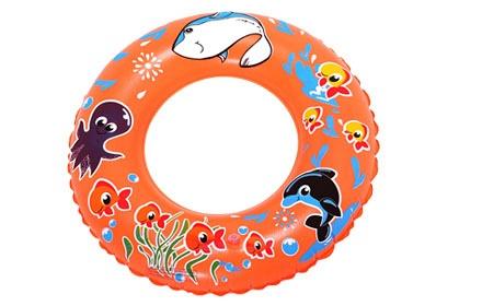 宝宝儿童桔色可爱小乌贼游泳圈