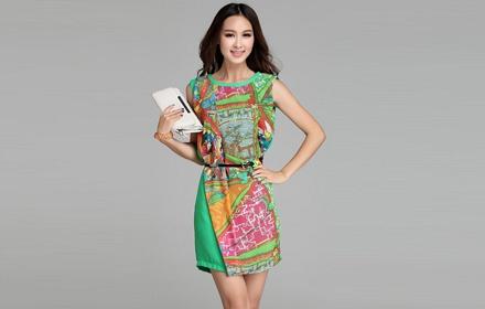 漂亮画裙子图片画衣服-精美的国画图案印染,清新自然,经典和时尚共同演绎一场流行的旋律