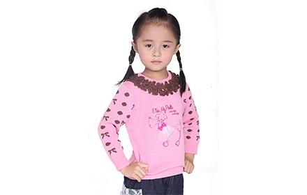 女宝宝深粉色毛衣