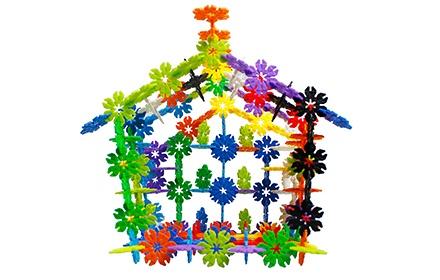 幼儿园建构区玩具雪花片造型