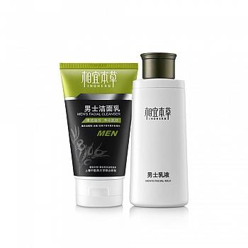 中国•相宜本草男士洁面乳120g+男士乳液120g