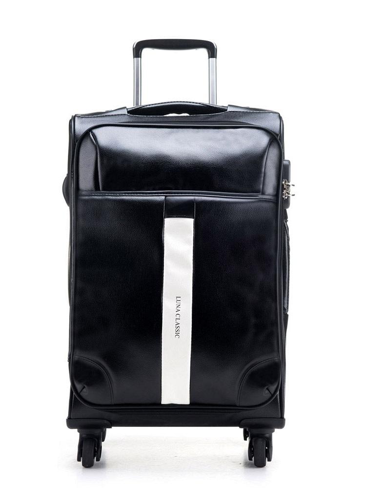 卢纳欧美皮箱男士登机箱子pu旅行箱包