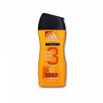 阿迪达斯 (Adidas)男士功能型香波沐浴露—按摩舒爽   250ml