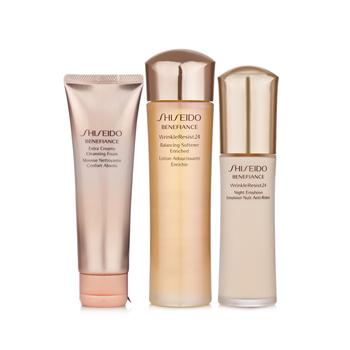 日本•资生堂(Shiseido)盼丽风姿抗皱盈润套装(抗皱洁面膏125ml+健肤水150ml+抗皱夜乳75ml)