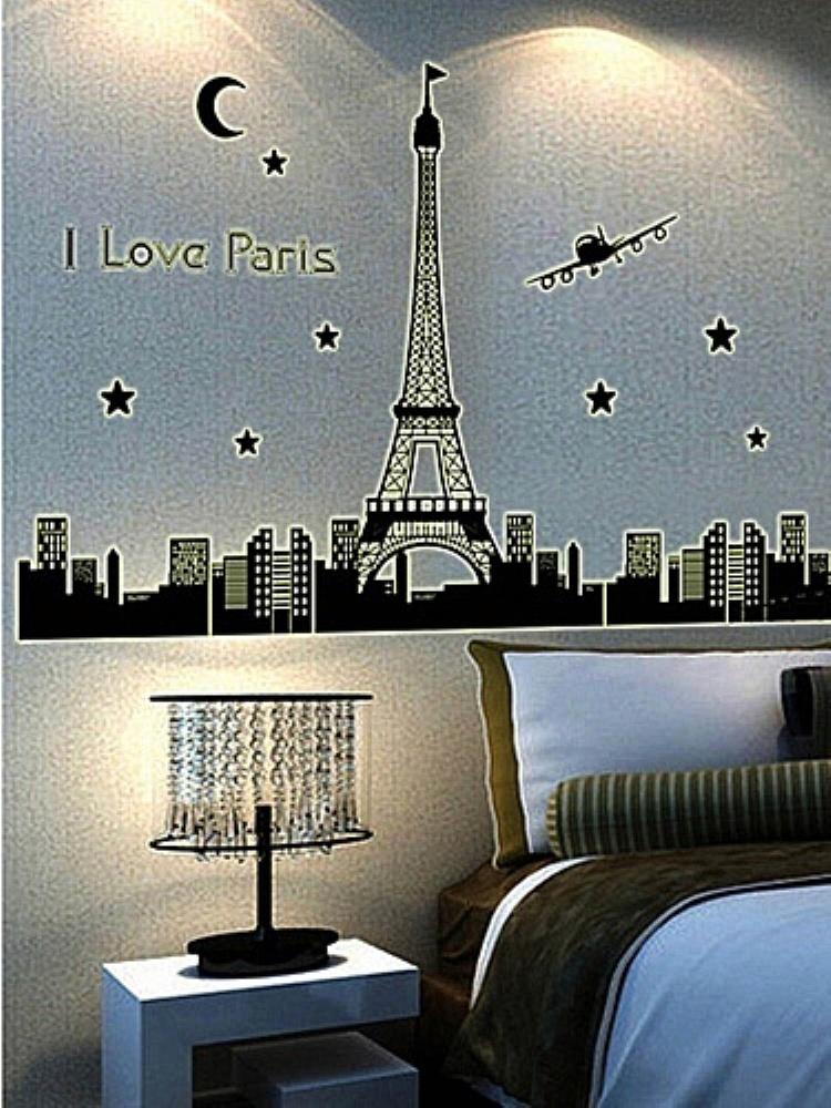 巴黎铁塔夜光贴*