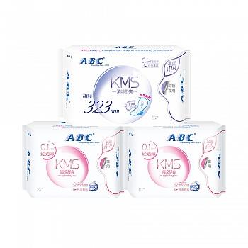 中国•ABC轻透薄全夜用棉柔卫生巾组合3包含加长甜睡夜用3片
