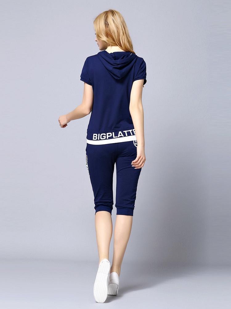 GA 藏青色英文字母带帽套装 - 聚美优品 - 名品