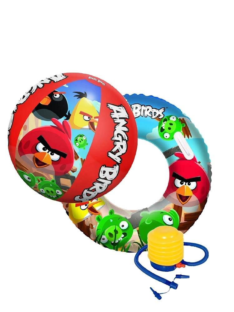 愤怒的小鸟沙滩球泳圈组合