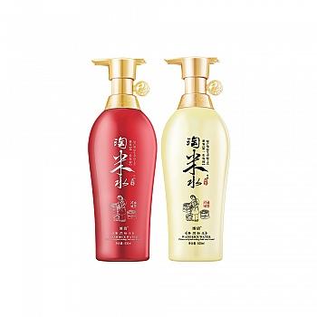中国•博倩(Boqian)淘米水洗护套装(洗发乳500ml+护发霜500ml)