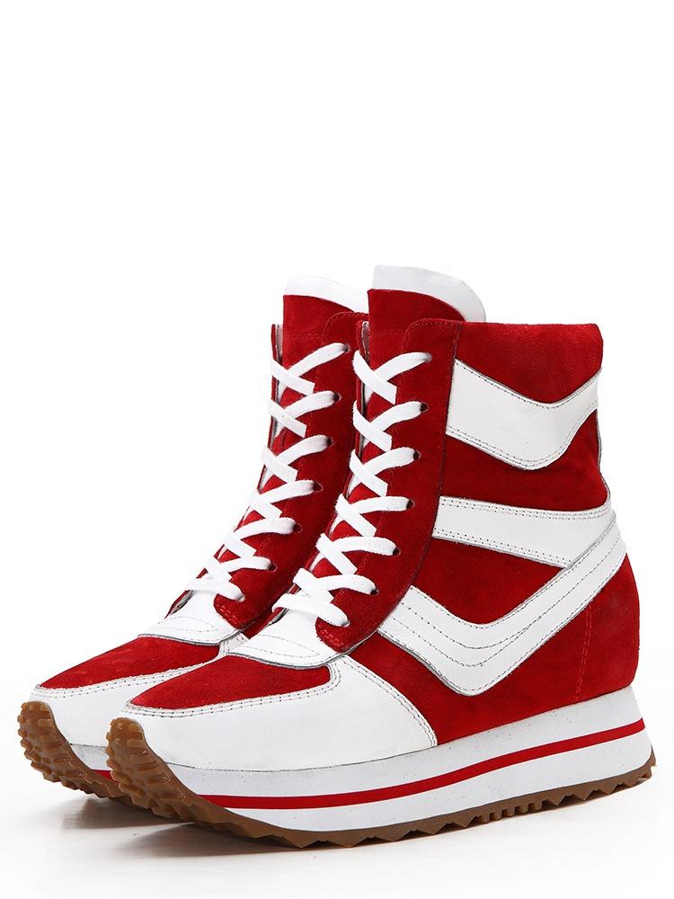红色高鞋搭配图片
