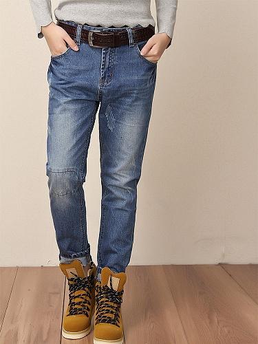 雪人花 高品质秋季牛仔裤