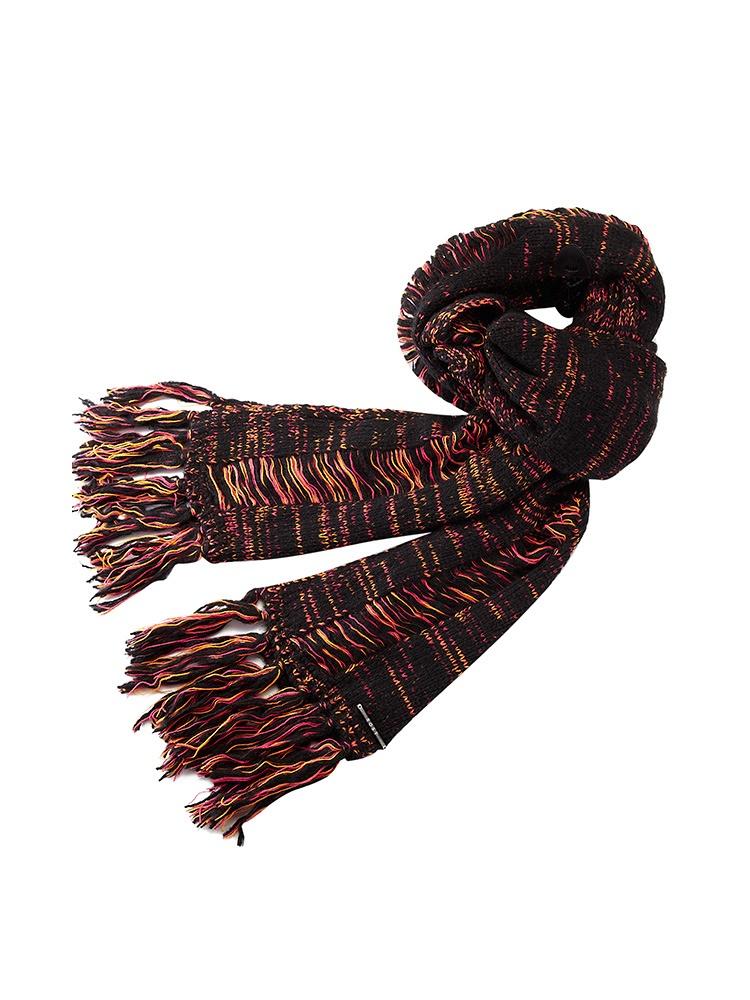 优雅百搭编织花纹围巾