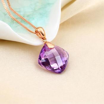 今上珠宝 18K玫瑰金紫水晶吊坠