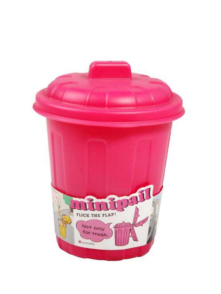 日本进口迷你塑料桶儿童玩具办公用品车载储物桶垃圾
