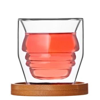 中国•创意人形双层玻璃水杯2只装