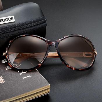 威古氏高清偏光太阳镜女士时尚大框眼镜复古墨镜