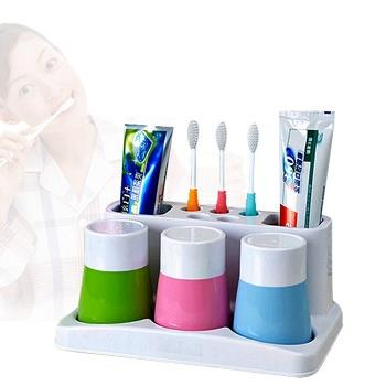 悠家良品三口之家牙刷洗漱套装