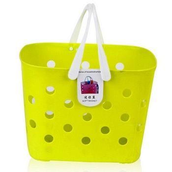 悠家良品手提收纳篮 洗澡篮2个装