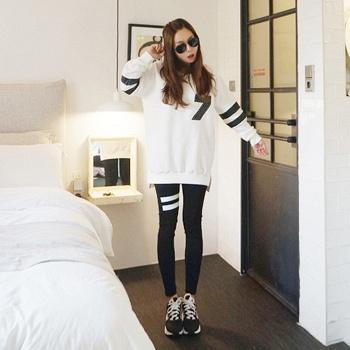 中国•蚕坊俪 可哺乳运动两件套装白色