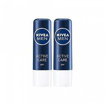 德国•妮维雅(NIVEA)男士润唇套装(润唇膏(男士型)4.8g*2)