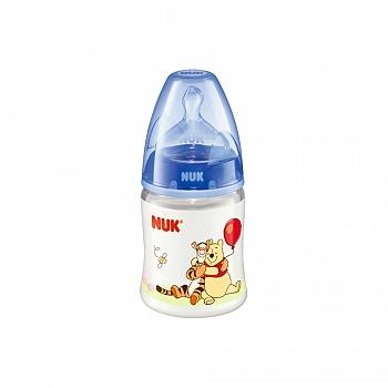 德国?NUK 150ml宽口PP彩色迪士尼维尼奶瓶(带初生型硅胶中?#37096;啄套歟? original=