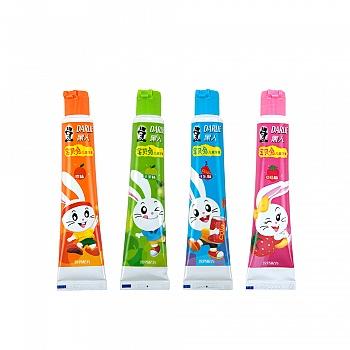 黑人(DARLIE)宝贝兔儿童牙膏苹果味40g+可乐味40g+橙味40g+草莓味40g