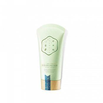 中国•百雀羚三生花控油清肌净透洁面膏90g