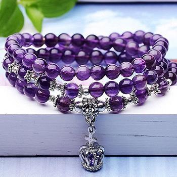 紫色爱恋 紫水晶三圈手串