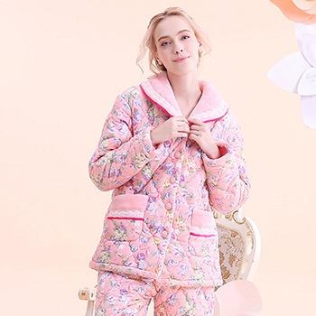 中国•粉红色长袖睡衣家居服套装
