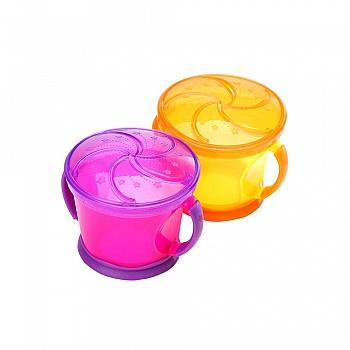 美国•munchkin 满趣健 防漏零食杯-2个装(适合12个月以上宝宝使用)(款式随机)