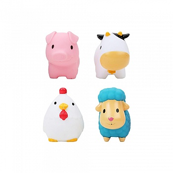 美国•munchkin 满趣健农场小动物洗澡玩具(4只装)