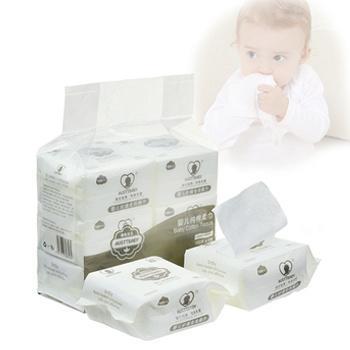 澳斯贝贝婴儿棉柔巾100抽*6袋装