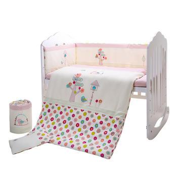 中国•澳斯贝贝婴儿床品7件套 莫纳花语