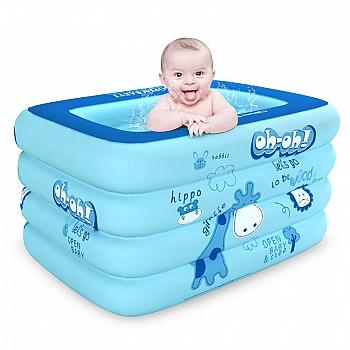 欧培婴儿充气游泳池 方形普通版