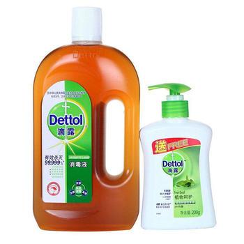 滴露 消毒液750ml+洗手液200g