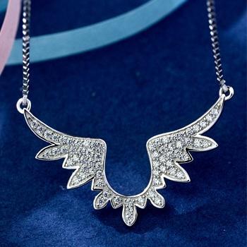 中国•Mbox925银韩版原创天使之翼项链