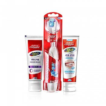 美国•高露洁(Colgate) 360°牙膏 - 卓效护龈美白90g+ 360°牙膏 - 卓效护龈90g+ 360°光感白电动牙刷