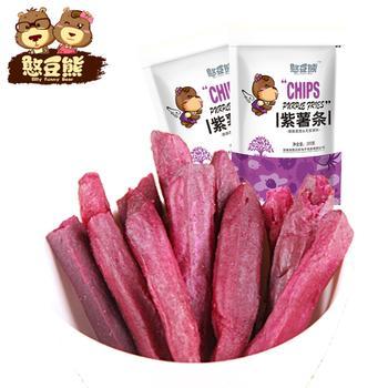 【憨豆熊】 紫薯条100g*2袋