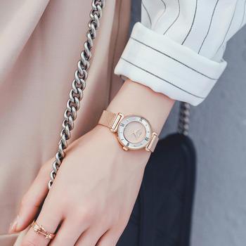 聚利时精钢双环时尚腕表女士手表