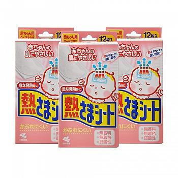 日本•小林退热贴(散热贴)婴儿用(12片)*3