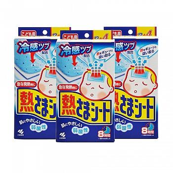 日本•小林退热贴(散热贴)儿童用(12片+4片)*3