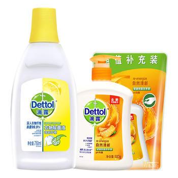 滴露 柠檬衣物除 菌液+清新洗手液