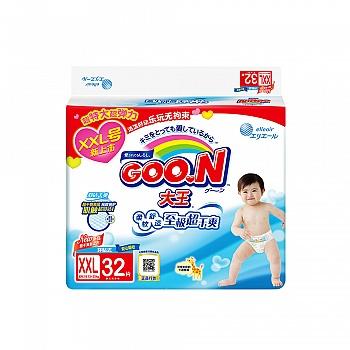 日本•GOO.N®大王 环贴式纸尿裤 维E系列XXL32片