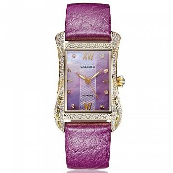 中国•卡罗莱方形紫色表带石英女士腕表