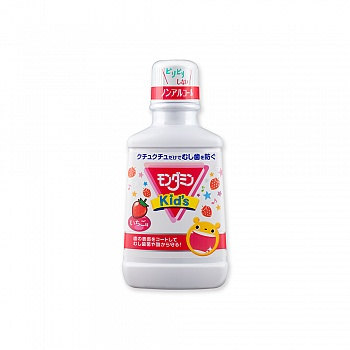 日本•ARS安速 梦纳明 Kid's 草莓味漱口水 250mL(日本进口)